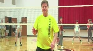 One-man volleyball team carries overcoming the odds message to students