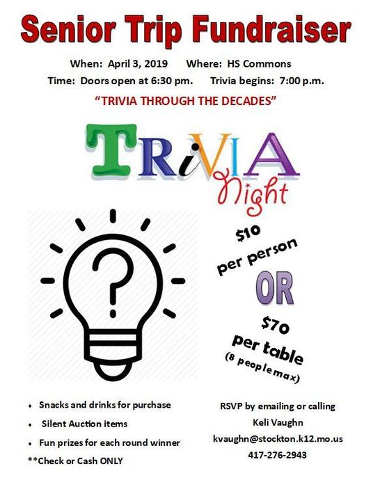 Senior Trivia Night