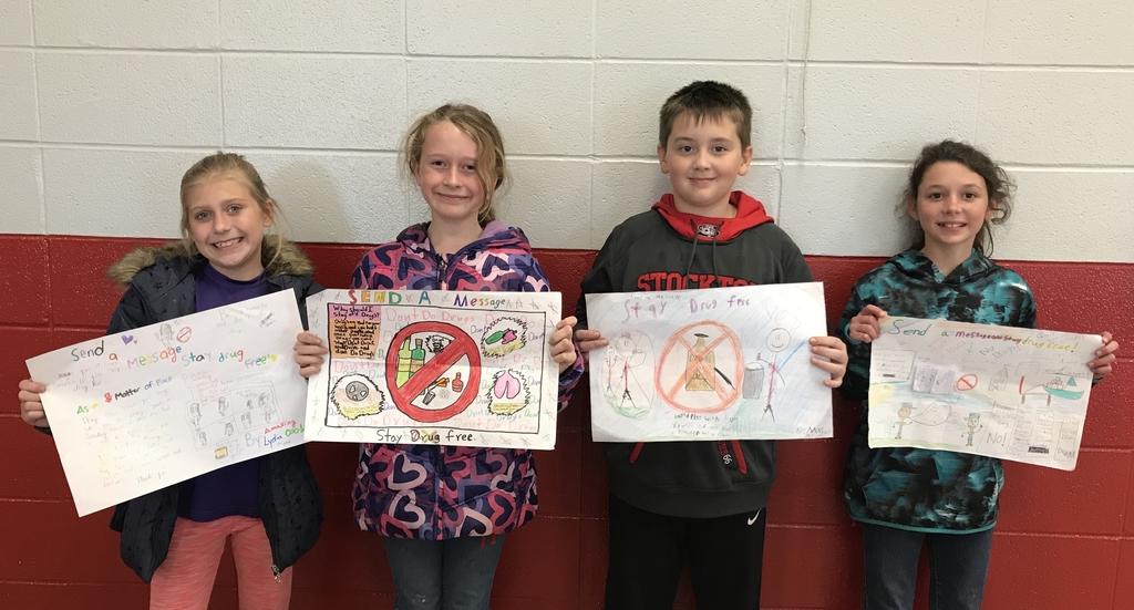 5th grade Red Ribbon Week poster contest winners