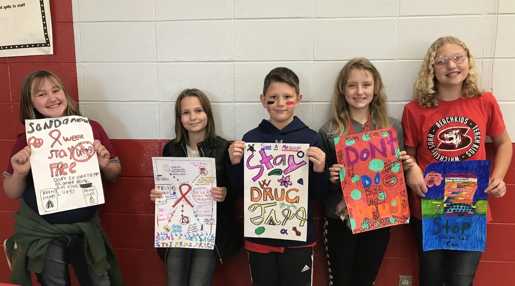 6th grade Red Ribbon Week poster contest winners