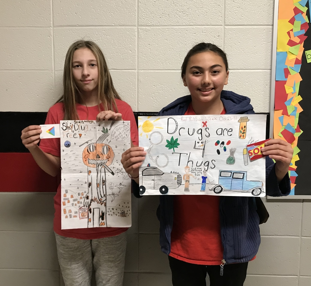 7th grade Red Ribbon Week poster contest winners