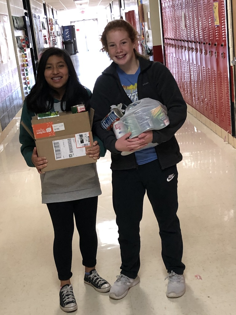 Middle School collected over 800 items to donate to SAMA!