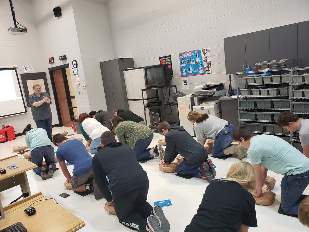 Students perform cpr