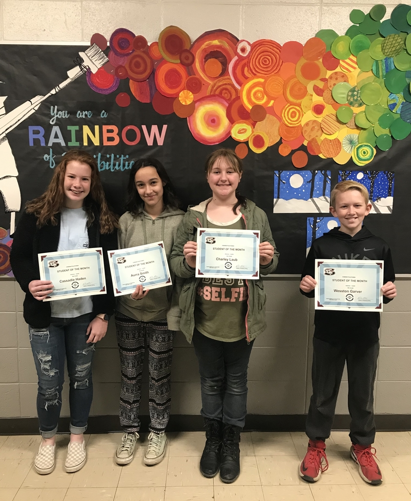 SMS Students of the Month for January