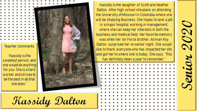 Kassidy senior spotlight info
