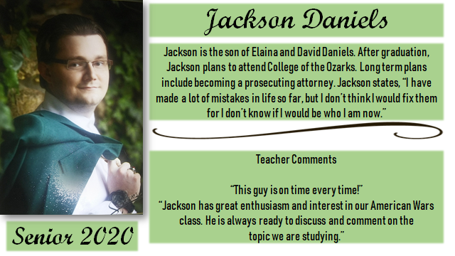 SENIOR SPOTLIGHT- JACKSON
