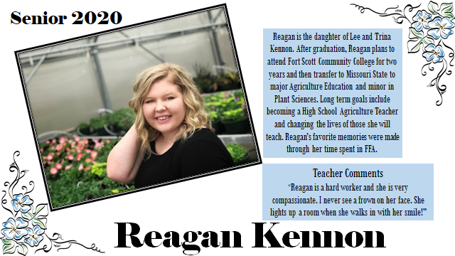 SENIOR SPOTLIGHT- REAGAN