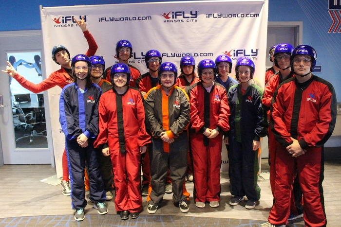 NHS and JROTC attended a STEM class in Kansas City on Monday before entering the indoor skydiving wind tunnell.